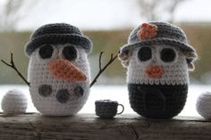 Snemand Frost og Frøken Tø, free pattern