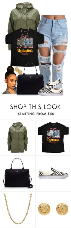 """""""Really Like This"""" by goddessnaii ❤ liked on Polyvore featuring Current/Elliott, Kate Spade, Vans, Lord & Taylor and Versace"""