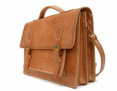 handmade leather school satchel