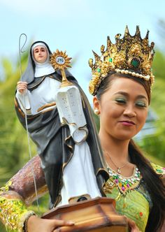 A participant of Aliwan Fiesta from the Dayang dayang festival of Pasay City Philippines.