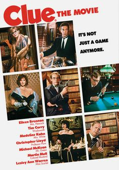 Clue. Director Jonathan Lynn's board game-inspired campfest finds six colorful dinner guests gathered at a mansion, where they all become suspects in the death of the house's owner, who had been blackmailing each of them.