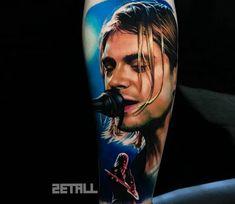 Tattoo photo - Kurt Cobain tattoo by Victor Zetall Rock Tattoo, Fan Tattoo, Body Art Tattoos, Tattoo Drawings, Cool Tattoos, Portrait Tattoos, Tattoo Images, Tattoo Photos, Kurt Cobain Tattoo
