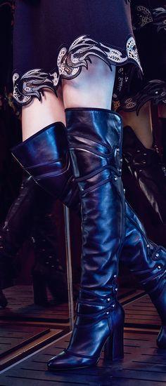 Slip into Dolce & Gabbana's ladylike take on the biker boot this season.