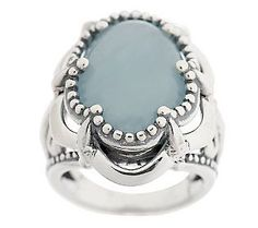 Carolyn Pollack Aquamarine Sterling Ring Featured Price:  $94.00
