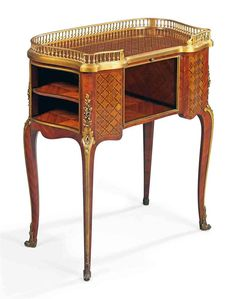 A FRENCH ORMOLU-MOUNTED AMARANTH AND HAREWOOD PARQUETRY TABLE DE TOILETTE   BY PAUL SORMANI, PARIS, LAST QUARTER 19TH CENTURY   occasional table, Furniture & Lighting   Christie's