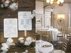 Cairnwood Estate Wedding: Love the incorporation of cotton