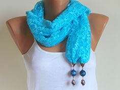 Scarf,Lace scarf, blue color scarf,beaded scarf,spring scarf,summer scarf,belt,bandana,hair-band,mothers day, gift, accessories $12.00