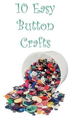 10 Easy Button Crafts - 10 Creative and Easy Button Crafts Ideas You can Make Yourself You are in the right place about jewe - Button Crafts For Kids, Crafts To Make And Sell, Diy And Crafts, Arts And Crafts, Fall Crafts, Christmas Crafts, Sell Diy, Homemade Crafts, Cute Crafts