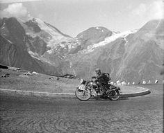 Int. 6 Tagefahrt 1939 Glockner 3.Tag Paul Guenther auf Puch 250 ccm Quelle: technischesmuseum.at Sammlung Arthur Fenzlau