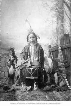 Native American Indian boy from the Ponca tribe in 1892