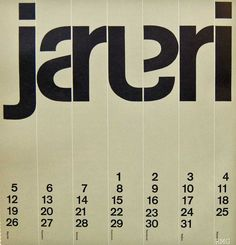 January – Designed and Printed in Holland – Designer not attributed
