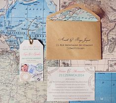 Travel theme wedding save the date.... Would be an awesome idea for a graduation party invitation!!