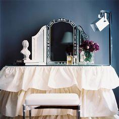 """decordesignreview: """" elegant ruffled vanity ~ Ryan Korban design """""""