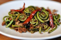 Fat of the Land: Sichuan Dry-Fried Fiddleheads