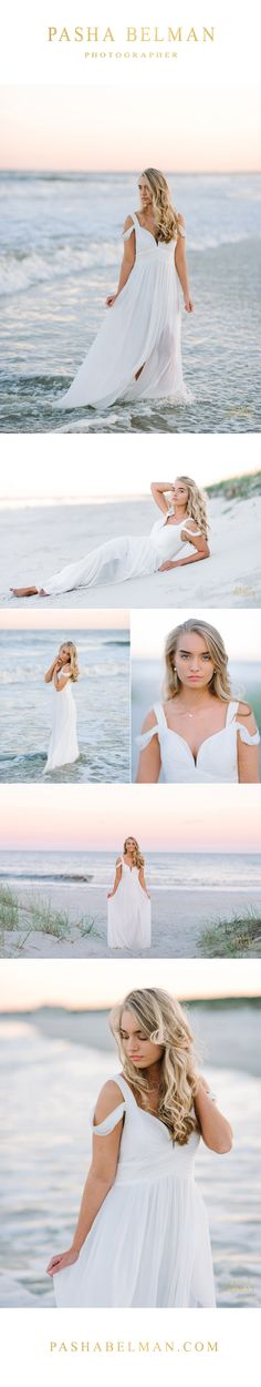 Senior Pictures - Ideas for Girls - High School Senior Photography - South Carolina Senior Photos - Myrtle Beach - Charleston - Columbia - http://pashabelman.com - white dress ideas for girls