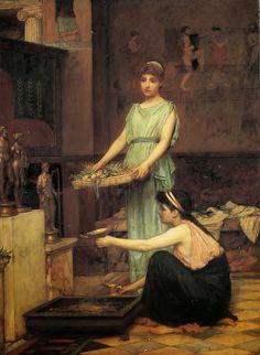 The Household Gods. 1880. John William Waterhouse