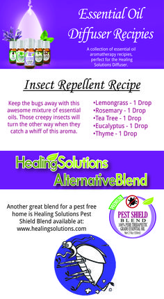 THE BUGS ARE OUT! Keep them at bay with your own blend of essential oils or try Healing Solutions Pest Shield to keep your home and garden insect-free!