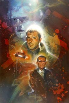 Blade Runner 1982 Movie Classic Vintage Poster Art Fabric Hot Decor X-580