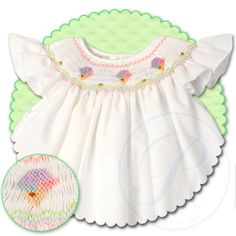 Icecream White Angel Sleeve Smocked Bishop 13SS 4649A