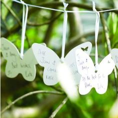 Wedding Wishes - for a summer garden party wedding  http://www.uniqueweddingfavours.co.uk/weddingfavours/Wedding-wishes-butterfly-Something-in-the-Air-1288.html