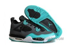 "cheap for discount 56997 bdaa8 Air Jordans 4 Retro ""Tiffany"" Teal-Black Cement Grey For Sale New Arrival"