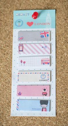 Sticky notes travel london planner supplies