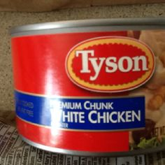 Tyson's chicken in a can (contains corn) other wise it is gluten, dairy& soy free Tyson Chicken, Tyson Foods, Breastfeeding Diet, Canned Chicken, Allergy Free, Coffee Cans, Allergies, Dairy Free, Gluten