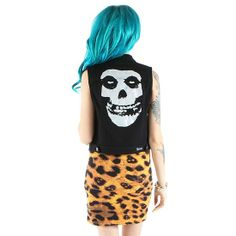 """I want this Misfits vest! Women's """"Misfits"""" Denim Vest by Iron Fist Indie Hipster Fashion, Pretty Outfits, Cute Outfits, Pin Up Style, My Style, Pretty Punk, Iron Fist, Blue Hair, Spring Summer Fashion"""