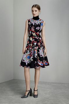 Mary Katrantzou Pre-Fall 2015 Dark Floral and Paisley Dress