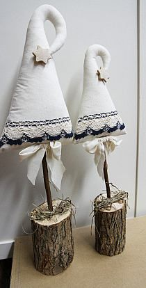 Stylowi.pl - Odkrywaj, kolekcjonuj, kupuj Christmas Feeling, Christmas Time, Merry Christmas, Christmas Projects, Holiday Crafts, Diy And Crafts, Arts And Crafts, Cone Trees, Xmas Tree