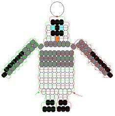 Penguin pony beads pattern