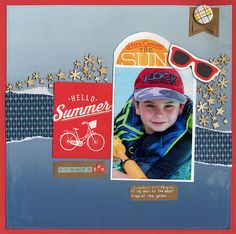 Summer Fun - Scrapbook.com - Made with the Scrapbook.com kit club June kit Nautical Days.