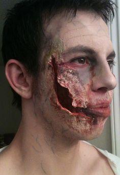 Make homemade zombie makeup