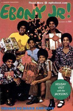 """The Jacksons on """"Ebony Jr.!"""" Magazine cover.(Tito Jackson, Randy Jackson, Michael Jackson, Marlon Jackson, Jermaine Jackson, and Jackie Jackson.)"""
