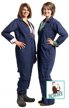 Popular Navy Coveralls. Really helpful work features and increased durability for the hard work we put them through in the garden, the ranch, or the workshop. A coverall for the woman who does it all.  Plus choose a trim color that is you: green or pink. http://www.rosiesworkwear.com/products.php?id=1