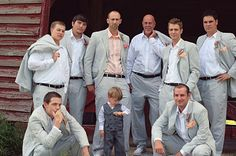 Groomsmen attire for summer wedding: gray seersucker suits with white dress shirts (peach for groom), peach fabric pocket squares, white Chucks Taylors and no tie Wedding Groom, Wedding Suits, Our Wedding, Dream Wedding, Wedding Ideas, Wedding Stuff, Wedding Planning, Southern Bride, Southern Girls