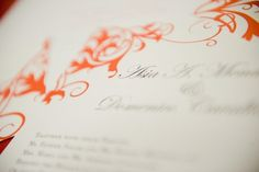 Invitation detail. {baci designer stationery + events}