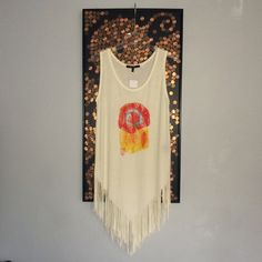 NWT- Hype Fringed Tank Long Tank or it it's bigger than your size, wear as a mini dress! Brand New Hype Tops Tank Tops