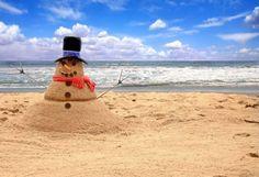 картинки, приколы, море, пляжи, песок, снеговики