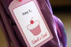 Back to School Cupcake Backpack Free Printables