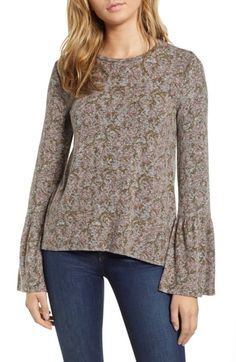 ¥35.7. LUCKY BRAND C Bell Sleeve Pullover #luckybrand # #clothing Fashion 2018 Trends, Sweater Fashion, Women's Fashion Dresses, Lucky Brand, Tunic Tops, Pullover, Sleeves, Clothes, Black Friday