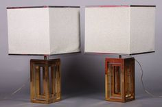 signed Romeo Rega pair of lamp | From a unique collection of antique and modern table lamps at https://www.1stdibs.com/furniture/lighting/table-lamps/