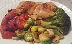 Baked Chicken Legs Quarter, Grilled Brussel Sprouts with Garlic, Boiled Broccoli with Balsamic Vinegar, BBQ Roasted Red Peppers, Vegetable Salad, Baked Lemon Potato ❤🙌🏆🏅😍 Watch the cooking action on Instagram Stories and Youtube 🎥📸 Like, Comment, Subscribe, Share 👍😊 #dinner #chicken #lowcarb #keto #lchf #paleo #bodybuilding #fooddiary #pepper #garlic #onions #bbq #roasted #baked #healthy #vegetables #feedfeed #f52grams #foodpics #nofilter #YUMMY #diet #homecooking #coach #cleaneating…