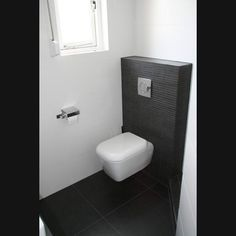 Modern klein toilet zwart wit tegels google zoeken toilet pinterest toilets search and - Deco toilet zwart ...