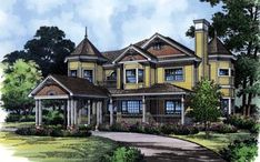 Elevation of Country   Southern   Traditional   Victorian   House Plan 63319