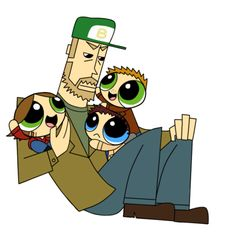 Oh my god, I never liked the Powerpuff Girls, but this is a little bit amazing