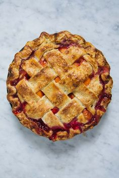 Apricot and Raspberry Pie
