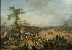 The Clifton Race-Course 1836 Oil On Canvas, Canvas Prints, Bristol Museum, Thing 1, Art Uk, Horse Farms, Creative Art, Poster Size Prints, Photo Wall Art