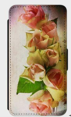 """Handytaschen -  Flip-Case Samsung 7/Edge """" Roses"""" - ein Designerstück von Heavensblue4711 bei DaWanda"""