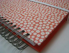 Organize Birthdays and Anniversaries!!  Greeting Card Organizer with Address Book, Love this Orange print!